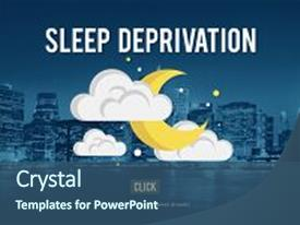 Slide deck featuring sleep deprivation insomnia problem narcolepsy background and a ocean colored foreground.