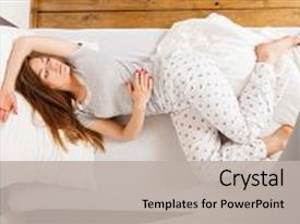 Amazing presentation having sleep dream rest relax recovery backdrop and a light gray colored foreground.