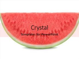 Theme featuring slice of watermelon on white background and a coral colored foreground