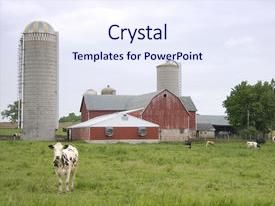 Slides Consisting Of Small Wisconsin Dairy Farm Background And A Sky Blue Colored Foreground