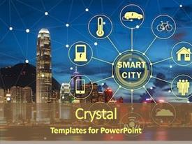 Smart City Powerpoint Templates W Smart City Themed Backgrounds