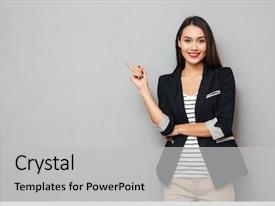 Powerpoint Template Women In Technology It Flat World Map Background Binary Code 6246