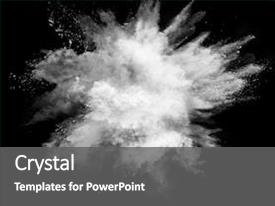 PPT theme enhanced with smoking - white powder explosion isolated background and a gray colored foreground