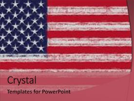 Slide deck enhanced with smudges - illustration of the american flag background and a red colored foreground