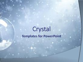 Colorful PPT theme enhanced with snow globe with christmas tree backdrop and a light blue colored foreground