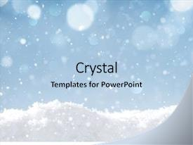 PPT layouts having snow winter holidays background background and a light blue colored foreground