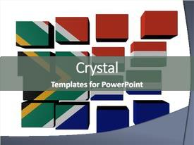 5000 south africa powerpoint templates w south africa themed presentation theme having south african flag on cubes background and a gray colored foreground toneelgroepblik Choice Image