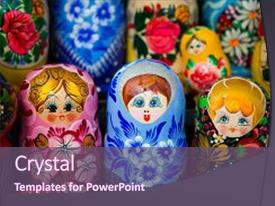 Top doll powerpoint templates backgrounds slides and ppt themes presentation theme featuring souvenirs russian nesting dolls background and a violet colored foreground toneelgroepblik Choice Image
