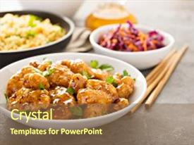 Presentation theme featuring spicy sweet and sour general background and a tawny brown colored foreground.