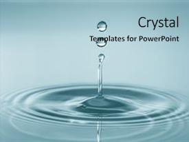 Amazing PPT layouts having splash and make perfect circle backdrop and a light blue colored foreground