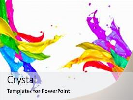5000 colorful powerpoint templates w colorful themed backgrounds slide deck enhanced with splash isolated on white background background and a white colored foreground toneelgroepblik Images