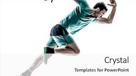 Amazing presentation having sports - man runner jogger running isolated backdrop and a white colored foreground