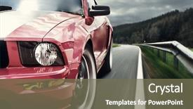 PPT layouts enhanced with sports - red sport car background and a violet colored foreground