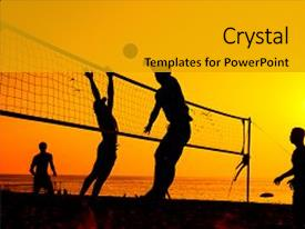 Top volleyball powerpoint templates backgrounds slides and ppt themes audience pleasing presentation consisting of sports beach volleyball is a popular backdrop and a colored toneelgroepblik Choice Image
