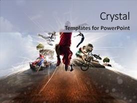 5000 multi sports powerpoint templates w multi sports themed