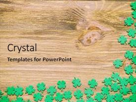 Amazing PPT theme having st patricks day background - green backdrop and a coral colored foreground.