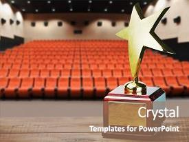 Service award powerpoint templates crystalgraphics ppt theme featuring star award for service background and a coral colored foreground toneelgroepblik Image collections