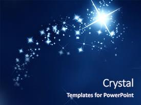 PPT layouts having star on a dark blue background and a navy blue colored foreground.