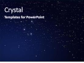 Beautiful PPT theme featuring star on the dark backdrop and a navy blue colored foreground