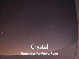 Cool new presentation theme with starry sky night photography astrophotography backdrop and a gray colored foreground.