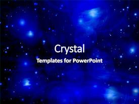 Presentation theme enhanced with stars on a dark blue background and a navy blue colored foreground.