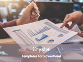 Beautiful PPT theme featuring startup business people group meeting young creative coworkers team working and discussing new plan project in office entrepreneurs brainstorming teamwork analyze plans professional investor backdrop and a gray colored foreground.