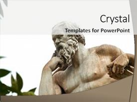 5000 ancient greek powerpoint templates w ancient greek themed audience pleasing slides consisting of statue of ancient greek philosopher backdrop and a white colored foreground toneelgroepblik Images