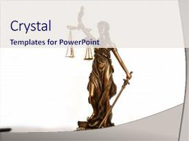 Theme having statue of justice - lady justice background and a sky blue colored foreground.