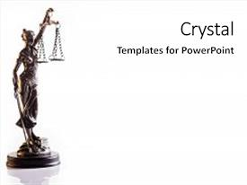 Slide deck featuring mythology - statuette of the goddess background and a white colored foreground