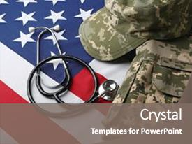 500 military medicine powerpoint templates w military medicine theme enhanced with stethoscope and military uniform background and a gray colored foreground toneelgroepblik Gallery