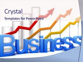 PPT theme consisting of stock market - business graph concept isolated background and a  colored foreground.