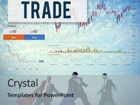 PPT layouts enhanced with stock market results stock trade forex shares concept background and a light gray colored foreground