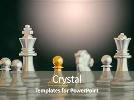 Cool new slide set with strategy chess battle intelligence challenge backdrop and a gray colored foreground.