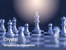 Cool new PPT layouts with strategy chess battle intelligence challenge backdrop and a ocean colored foreground.