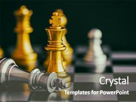Slides consisting of strategy chess battle intelligence challenge background and a dark gray colored foreground.