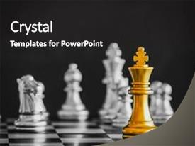 PPT layouts featuring strategy chess battle intelligence challenge background and a dark gray colored foreground