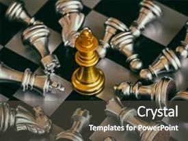 Audience pleasing theme consisting of strategy chess battle intelligence challenge backdrop and a dark gray colored foreground