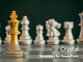 Cool new presentation with strategy chess battle intelligence challenge backdrop and a gray colored foreground.