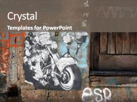 5000 street art powerpoint templates w street art themed backgrounds amazing ppt theme having street art backdrop and a colored foreground maxwellsz