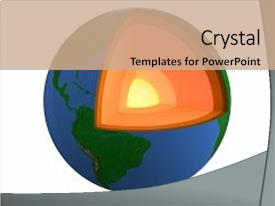 Amazing slide deck having structure of earth isolated backdrop and a coral colored foreground