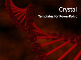 PPT theme with dna molecule 3d cell biology background and a black colored foreground