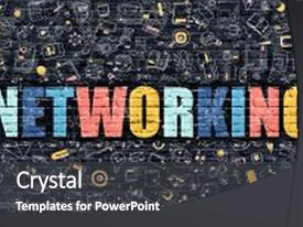 Slide deck enhanced with network - style of networking networking business background and a dark gray colored foreground.