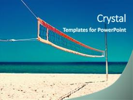 5000 volleyball powerpoint templates w volleyball themed backgrounds presentation theme featuring summer beach life concept volleyball net and empty beach sea beach and toneelgroepblik Image collections
