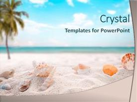 Cool new theme with summer beach with starfish shells backdrop and a cool aqua colored foreground.