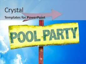 100 pool party invitation powerpoint templates w pool party presentation having sunday school pool party sign background and a light blue colored foreground toneelgroepblik Choice Image