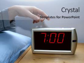 Theme consisting of switch off an alarm clock background and a light gray colored foreground.