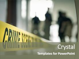 5000 crime powerpoint templates w crime themed backgrounds colorful presentation theme enhanced with crime tape with blurred forensic law backdrop and a gray toneelgroepblik Images