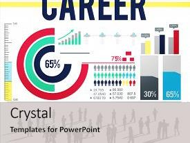 PPT theme enhanced with team recruting - career employment human resources occupation background and a light gray colored foreground