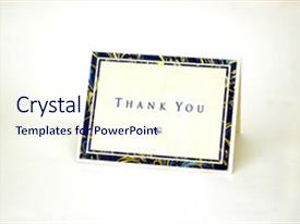 Beautiful PPT theme featuring thank you card isolated backdrop and a sky blue colored foreground.