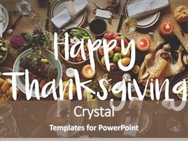 Audience pleasing PPT theme consisting of thanksgiving blessing celebrating grateful meal backdrop and a violet colored foreground